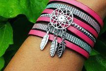 Bracelets cuir / bracelets manchette cuir