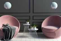 Pink/ Blush Interiors  trend - updated look-2018