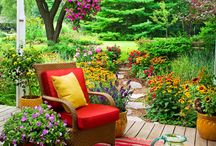 Outdoor spaces / Outdoor spaces I like and things to go in them.