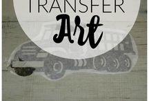 transfer art