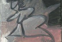 Nude oil on canvas - Roman Lasa
