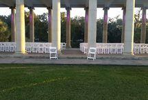 City Park Weddings / Beautiful wedding set ups in New Orleans City Park.