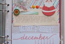 December Daily / A board for all things Christmas and December Daily scrapbook.