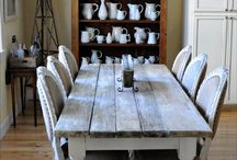 farm tables / by Tammy Haubert
