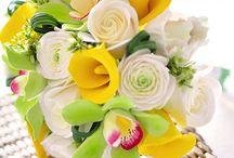 kvety zo studeneho porcelanu