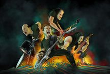 Metallica / One of my favorite bands from my childhood. Still going strong today. Metallica!! James Hetfield, Lars Ulrich, Kirk Hammett, Robert Trujillo. Thanks for writing pissed off music.