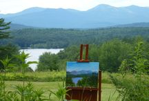 Plein Air / Plein air: the craft of painting in open air. With stunning views from the gallery we love to host Plein air events. Check out our Facebook to see when our next Plein air event is coming up!