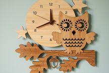 lasercut clock