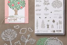 Kaarten, Stampin'Up, (boom, bloem), Thoughtful Branches