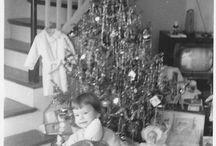 The 50's - Christmastime / Christmas, 1950's, postcards, vintage
