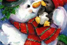 Sneeuwpop. / Sneeuwpoppen.