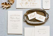 INK - Destination Wedding / Invitation - Save the Date - Menu