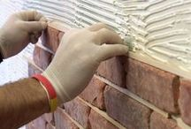 DIY guides for installing brick tiles