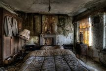 Abandoned. / Sad and lonely houses, rooms - left behind.