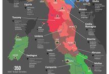 Wine maps / Italia wine regions