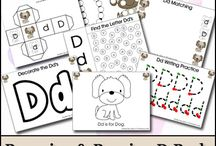 Alphabet Letter D / Activities for learning the alphabet letter D in preschool