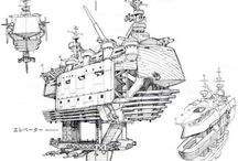 Sci-Fi inspirations / Space, spaceships, planets, mecha, stars and deep frozen blackness.