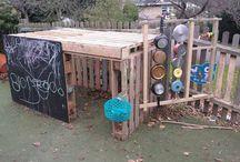 Childrens Eco pallet construction