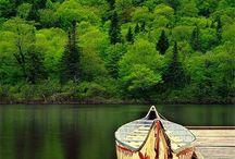 Water || canoe