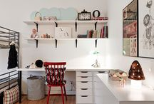 Kids' Desks, Workspaces and Craftspaces / Beautiful environs for children to do homework, color, and craft