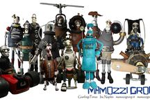Mamozzi Group / Sculptures steampunk, sculture steampunk