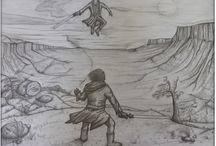 Star Wars / Star Wars Fan Art illustration accompanying short story collection