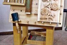 wood carving table
