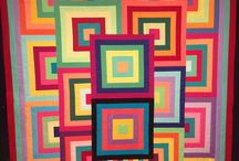 Coperta quadrettoni multicolor sovrapposti