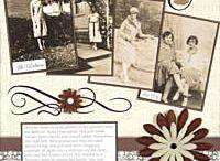 scrapbooking äldre och svart vita foton