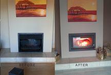 ITALFIRE FIREPLACE INSTALLATIONS / Closed combustion fireplace installations by ITALFIRE