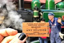 Puffing Billy Choo Choo Train / The Puffing Billy steam train is located in the Dandenong Ranges just an hour from Melbourne. The railway line was originally constructed to develop rural areas in Victoria in the early 1900s. The narrow gauge railway line was used to ferry potatoes, carrots, vegetables, fruit and nursery goods grown in the lush and healthy soil of the Dandenong Mountains.