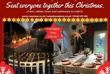 Christmas Ideas / NO FUNCTION TOO SMALL. NO FUNCTION TOO BIG. WE CAN HIRE YOU FURNITURE AND CATERING ITEMS FOR ALL YOUR PARTY NEEDS THIS DECEMBER!   CONTACT US NOW FOR A QUOTE 01462811166   SALES@ROSETONE.CO.UK  http://rosetone.co.uk/furniture-hire