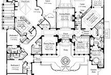 Floor plans, model houses