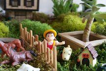 fairy garden / Terrarium, teraryum, minyatür bahçe, peri bahçesi, masal bahçesi ve benzeri çalışmaların örnekleri