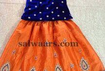 Silk skirt models