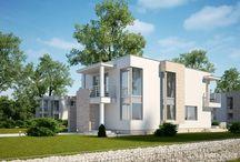 Małe domy nowoczesne / Projekty niewielkich domów w stylu nowoczesnym autorstwa biura architektonicznego LK&Projekt  #lk-projekt #lkprojekt #lkproject #projektdomu #projekty #domjednorodzinny  #house #project #beautifulhouse  #homesweethome #design #architecture #polisharchitecture  #plaskidach #flatroof #swimmingpool
