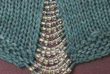 strik med perler