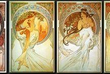 Reproductions sur toile d'Alphonse Mucha