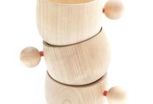 Деревянные вазы, блюда