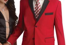 Red Tuxedos / Red tuxedos command attention and are usually worn for confident individuals.