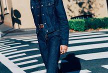 Fashion 18-19 / 1-Double Denim 2-Squares coat 3-Furry pastel coat 4-Dots print 5-Big lapels 6-Pvc/Plastic 7-Leather pants 8-Red boots 9-XXL Bags 10-Black and Blue outfit