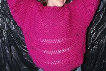 Strickmode für Frauen / knitts for womens / Hand gestrickte Pullover und Jacken / Hand knitted sweaters and cardigans