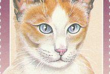 Kissa-aiheisia postimerkkejä