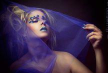 Extrem Make up by SylVisagistique! / Alles rund um extremes und buntes Make up.  Federn, Steinchen, Farbe, Glitzernden,  künstliche Wimpern etc. etc.