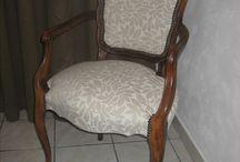 réfection de siége / réfection de siège garnissage et recouvrement photo avant et après
