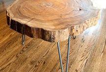 mesas con maderos