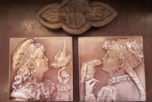 Art Tiles / Art tiles from the late 1800's.