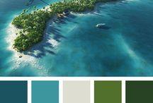 Палитра-голубое море