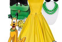 Looks  de personagems da Disney e mais