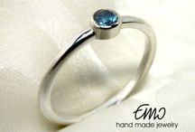 Emo Ring Silver Gold Jewelry / Hand made jewelry by Emostudio